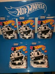 LOT OF (5) DISNEY STEAMBOAT HOT WHEELS,NEW FOR 2021,L CASE,DISNEY MICKEY MOUSE!!