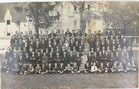 .RARE 1920 IPSWICH GRAMMAR QLD BOYS SCHOOL GROUP PHOTO REAL PHOTO POSTCARD.