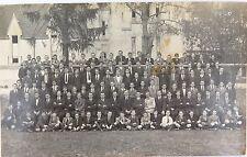 .RARE 1920 IPSWICH GRAMMAR QLD BOYS SCHOOL GROUP PHOTO REAL PHOTO POSTCARD.