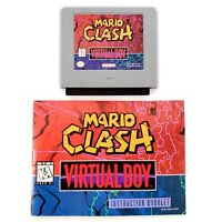 Mario Clash (Nintendo Virtual Boy, 1995) Authentic w/ Manual Tested & Works