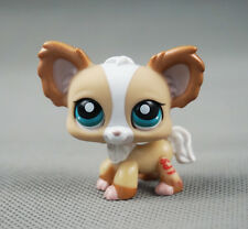 Littlest Pet Shop LPS #1082 Chihuahua Dog Blue Eyes Puppy Tan Shimmer Toys