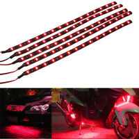 5 X  Red 15 LED 30CM Car Grill Flexible Waterproof Light Strip SMD 12V Sales