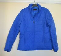 Ex M&S Ladies Womens Blue Puffer Jacket Coat Size 10 BNWOT