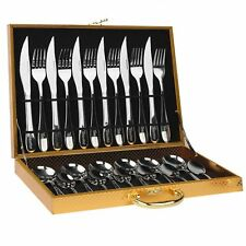 24pcs Kitchen Flatware Stainless Steel Silverware Cutlery Set For 6 People