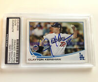 Clayton Kershaw Signed Autographed 2013 Topps Card PSA/DNA #US106 Auto