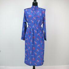 "Vintage 1980s Liz Claiborne Skirt & Blouse Set Blue/Red Geometric Small 27"" W"