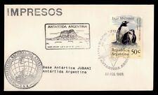 DR WHO 1995 ARGENTINA JUBANI ANTARCTIC BASE PENGUIN  g10148