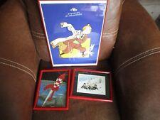 Tintin-Lot cadres-Fusée,musée,Dupondt neige