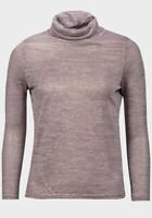 Womens Ex UK Chainstore Ladies Light Knit Roll Neck Top Pink long sleeve