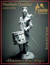 Castle Mins Drummer Boy Black Watch 42nd Reg Waterloo 1815 54mm Unpainted kit
