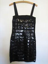 Un bel vestito di TRICOT Joli Abito Di Paillettes Nero Taglia Media Pit-Fossa 13 in (ca. 33.02 cm)