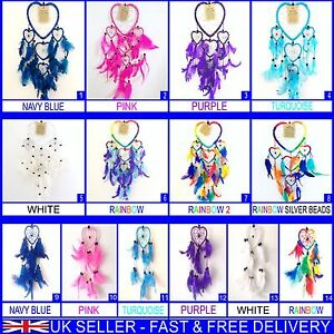 DREAM CATCHER GIRLS BOYS DREAMCATCHER HEART STYLE MANY COLOURS AND SIZES