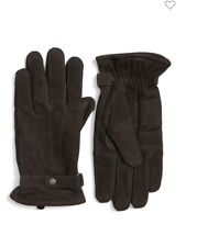 BARBOUR Men's Leather THINSULATE Gloves in BLACK with FANTASTIC Reviews MSRP $99