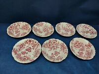 Vintage Taylor Smith & Taylor Pink Dogwood Fairway Set/7 Fruit Bowls Circa:1944