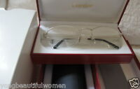 BRAND NEW Cartier Platinum Eyeglasses T8100617 France Size 58-21 Titanium Frame
