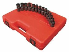 "Sunex 13pc 3/8"" Metric 12pt Universal Impact Sockets Set Tools Drive Swivel 3691"