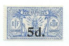 New Hebrides 1924 5 d on 2 1/2 d mint