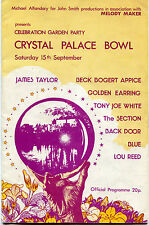 1973 Crystal Palace Concert program Jeff Beck Golden Earing Lou Reed Jame Taylor