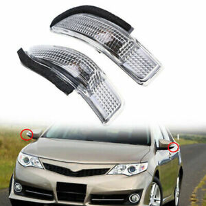 Pair LED Rear view Mirror Turn Signal Lamp For Toyota Scion iM Corolla 2013-2017