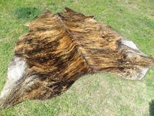 NEW LARGE BRINDLE CARAMEL Cowhide Rug natural Cowhides Cow Hide Skin 6X6 FEET RC
