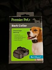 Premier Pet Bark Dog Collar Discourage Barking 8 lbs + 6 months + Auto Adjust