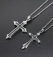 Halskette MIT Anhänger Kreuz Silber 55cm Kette für Herren Damen Edelstahl Panzer