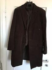 Giaccone cappotto uomo in velluto marrone con gilet interno tg 48 50 Conbipel