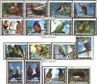 Umm al Qaiwain 1242A-1257A (complete issue) used 1972 Birds