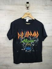 vtg def leppard poison XXX 2017 tour  Rock Band Punk T shirt refA16 medium