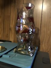 Partylite Mosaic Hurricane With Riser For Pillar Or Taper