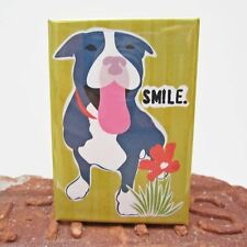 Pit Bull Smile Heavy Duty Art Magnet - Free Shipping ASAP - Pitbull Dog