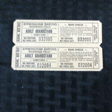 Birmingham Barons Unused full Ticket lot of 2 1981-1985 Detroit Tigers MINT