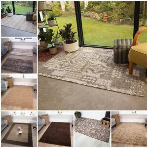 Modern Brown Living Room Rugs Small Large Geometric Rug Long Narrow Hall Runners