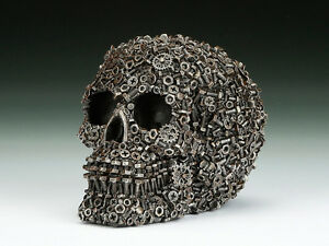Skull Nuts & Screws  Figurine Statue Skeleton Halloween