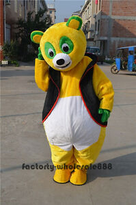 2020 Special Yellow Bear Mascot Costume Animal Adults Fancy Dress Handmade Gifts