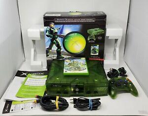 Microsoft Xbox Original Green Halo Console Complete Box Manual Controller Game