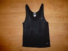 Women's G-Star Raw Grey Print Scoop Neck Sleeveless Viscose Blend Vest Top M 12
