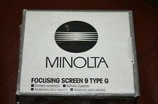 Minolta Focusing Screen 9 fit dynax 9 TYPE G. NEW old UK Stock