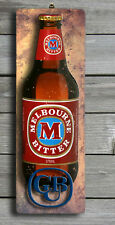 Melbourne Bitter 3D LOOK Rustic Wooden BAR Plaque / Sign (FREE POST) Stubby