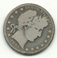A VINTAGE GOOD/VERY GOOD 1895 O BARBER SILVER HALF DOLLAR-JUN508