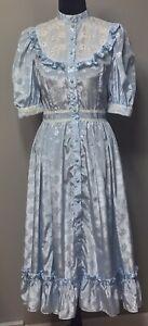 VTG Gunne Sax Style Blue Prairie Dress Sz S/M