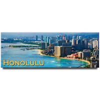 Waikiki beach panoramic Fridge magnet Honolulu travel souvenir Hawaii