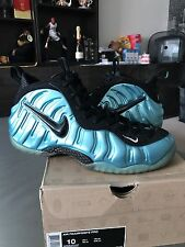Nike Air Foamposite Pro Electric Blue UK9 One Pearl Galaxy Mirror Hologram Volt