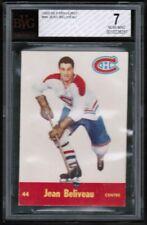 1955 56 Parkhurst #44 Jean Beliveau BVG 7 near mint rare Montreal Canadiens