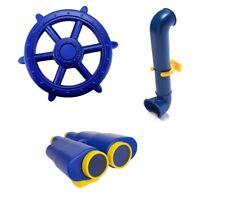 BLUE Playground Accessories Kit Jumbo Ship Wheel Binoculars Periscope Cubbyhouse