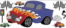 Wandtattoo Auto Autos Wandsticker Rennfahrzeug Kinderzimmer Fast & Fun