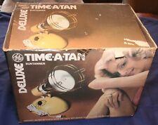 Vtg GE Deluxe TIME-A-TAN Sun Lamp GENERAL ELECTRIC Original Box & Bulb RSK6A