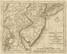 The country round Philadelphia. New Jersey Pennsylvania NY. GENTS MAG 1776 map