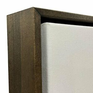 """Walnut Stained Floater Frame for 1.5"""" Deep Canvas"""