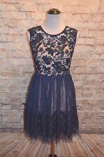 Modcloth Plan For Glamour Dress NWOT S Navy Crochet Lace A-line dress Soieblu